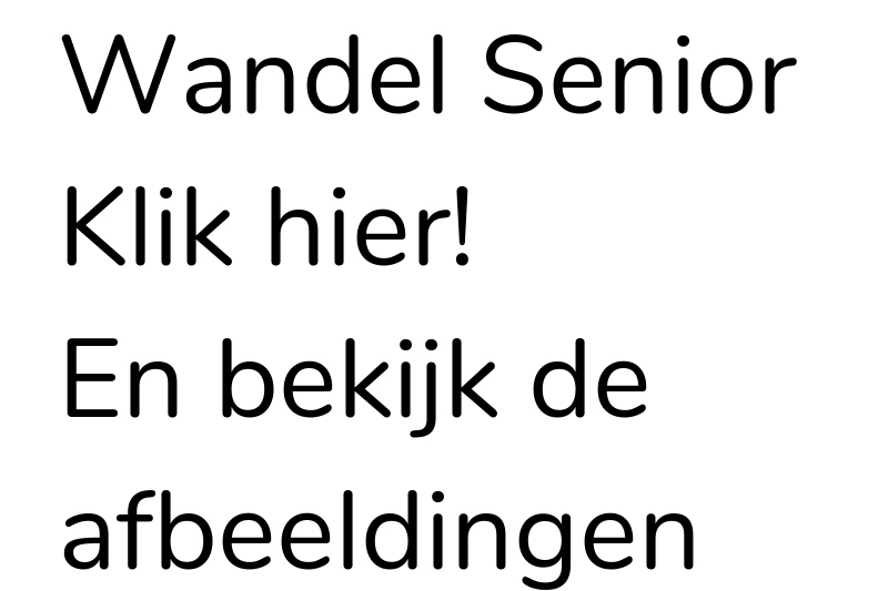 Wandelsport Senior
